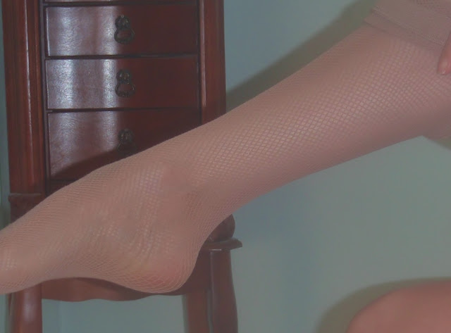 nude fishnet pantyhose