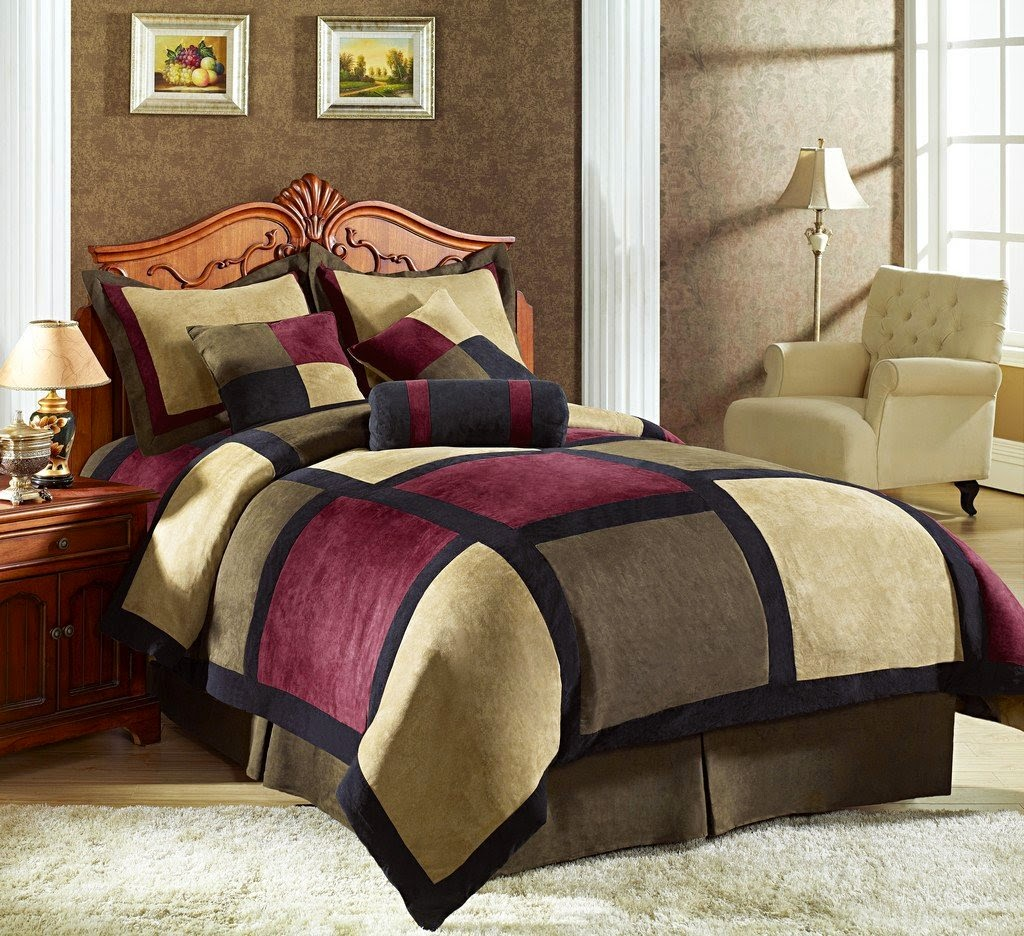 buy best and beautiful bedding sets on sale black and maroon bedding sets