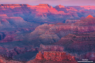 Grand Canyon from Hopi Point at dusk, Grand Canyon National Park, Arizona.
