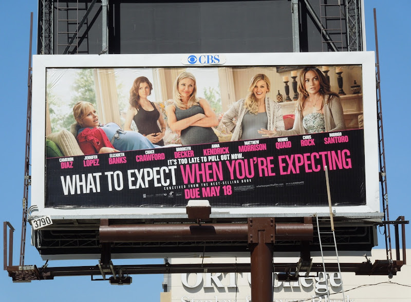 What Expect When Expecting female movie billboard