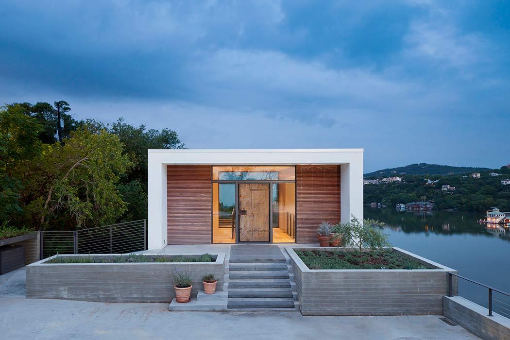 50 fotos de fachadas de casas modernas peque as bonitas for Casa moderna y rustica