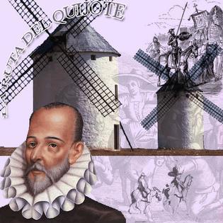 Imagen al Día del Idioma a color (Miguel de Cervantes Saavedra)