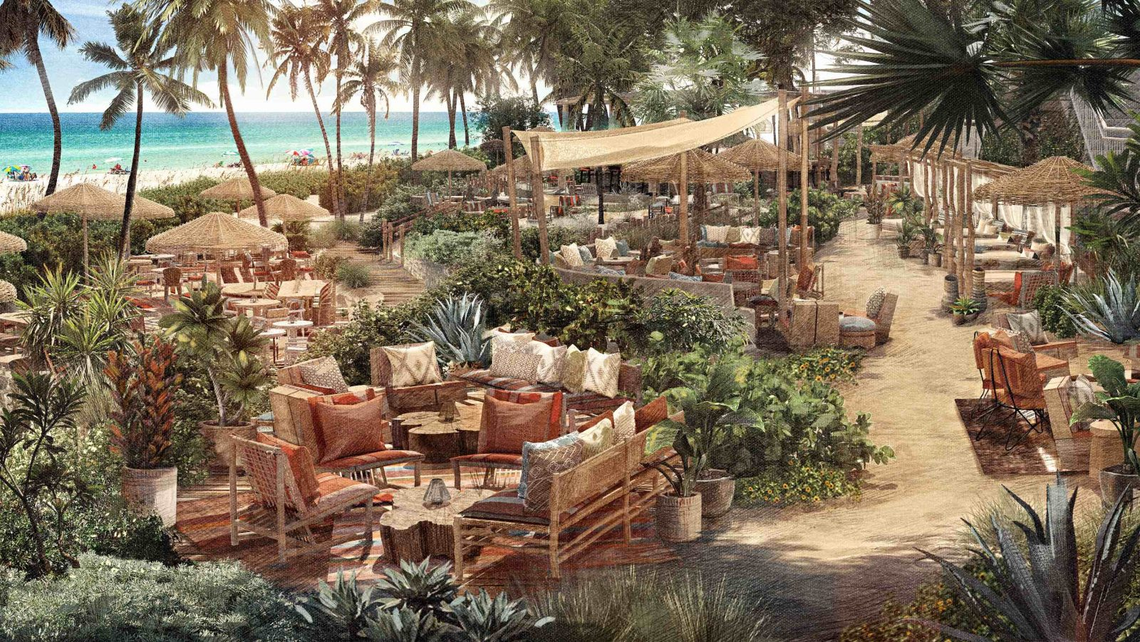 1 Hotel South Beach Launches Tulum-Inspired 1 Beach Club + New Restaurant, Wave