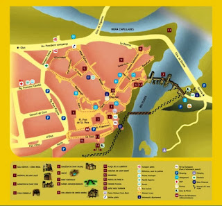 Mapa turístico de Besalú.