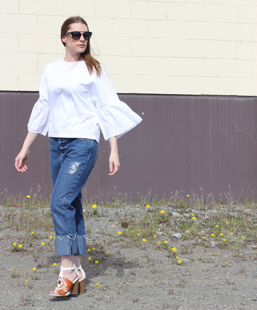Ruffle Sleeve Tops for Spring
