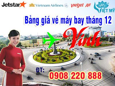 Vé máy bay giá rẻ đi Vinh tháng 12
