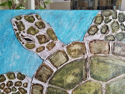 green sea turtle painting