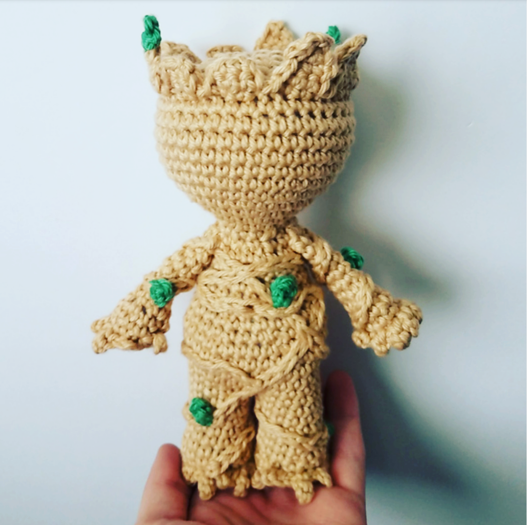 Baby groot mod pattern snugglyfoxdesigns httpbloginkiechan20140813free crochet pattern potted baby groot from guardians of the galaxy fandeluxe Images