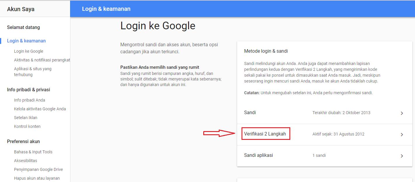 Cara Mengganti Nomor Telepon Verifikasi 2 Langkah Gmail Cari2 Cara