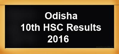 odisha 10th Results 2016