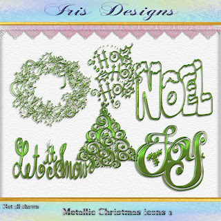 Metallic Christmas icons 2