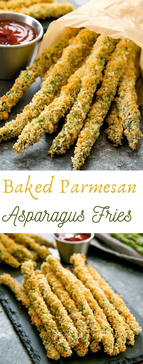 BAKED PARMESAN ASPARAGUS FRIES #parmesan #dinner