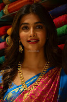 Puja Hegde looks stunning in Red saree at launch of Anutex shopping mall ~ Celebrities Galleries 048.JPG