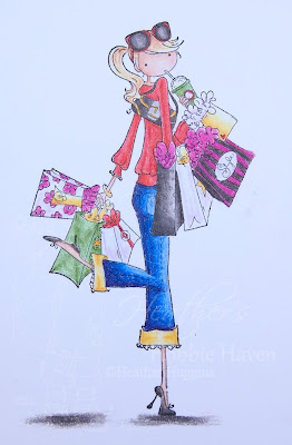 Heather's Hobbie Haven - Colored Pencil Tuesday - Charlotte Loves to Shop