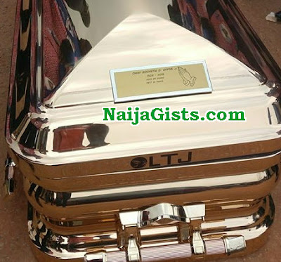emeka offor buries father N10million golden casket