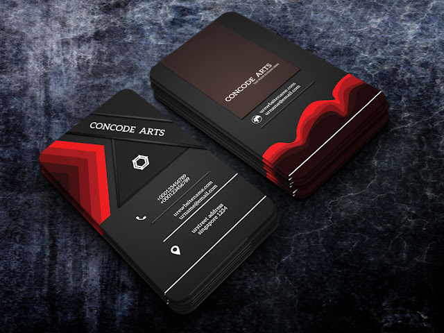 Professional business card templates free download black and red colour professional business cards vol 127 wajeb Choice Image