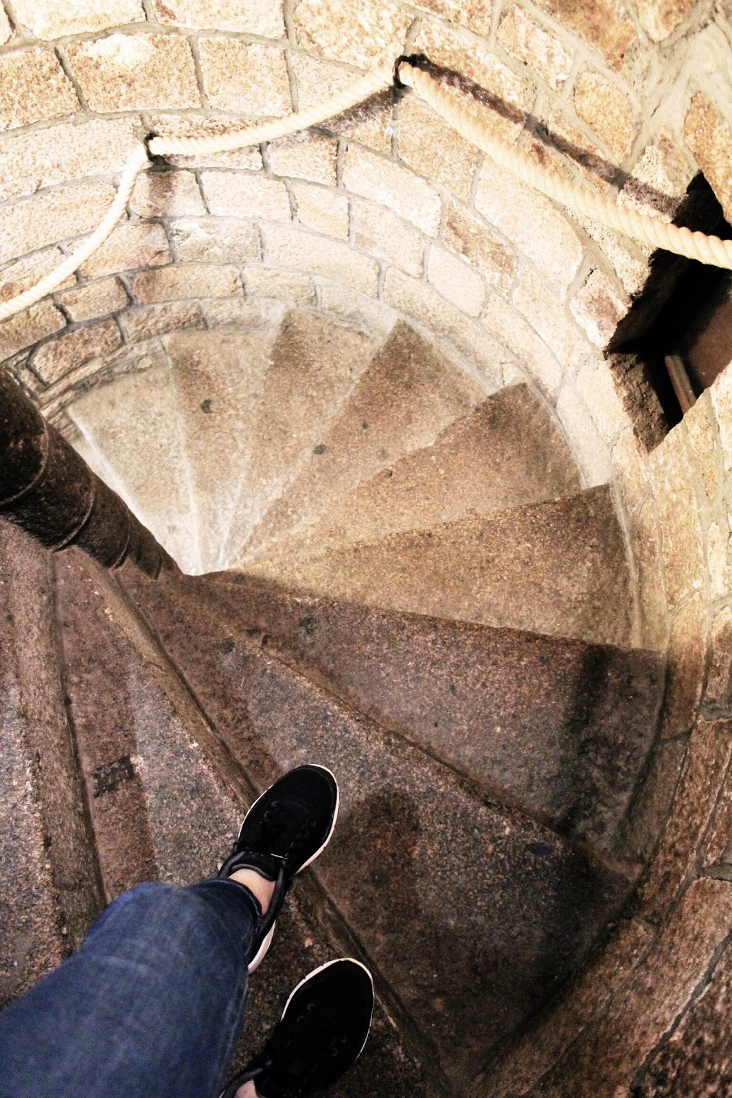 Stairs to French Creperie at Mont Saint Michel