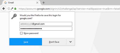 Jangan Menyimpan Pasword Akun Pada Browser