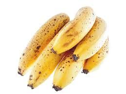 Banane très mûre avec des tâches noires