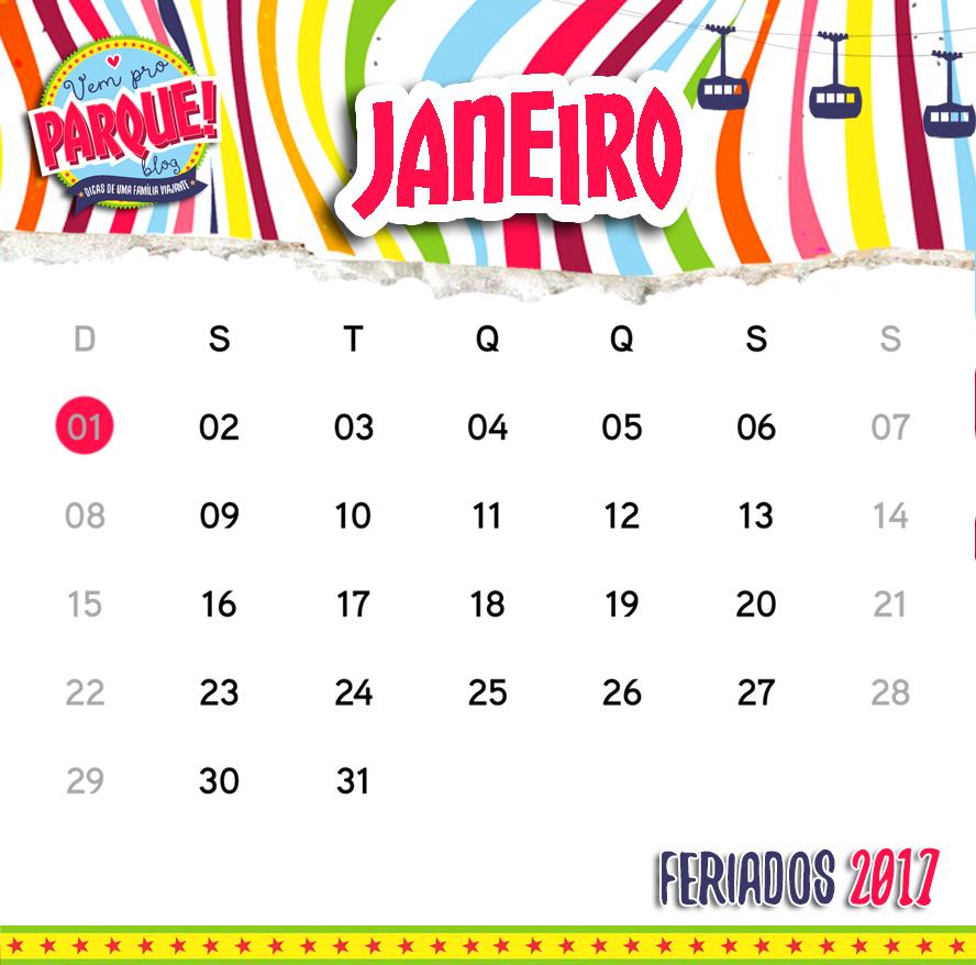 Calendário de feriados nacionais em 2017 vai dar MUITO parque