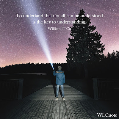 To understand that not all can be understood is the key to understanding.