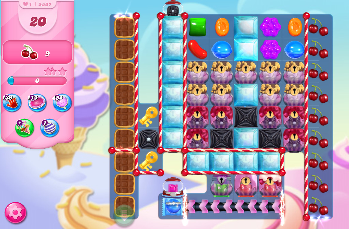 Candy Crush Saga level 5581