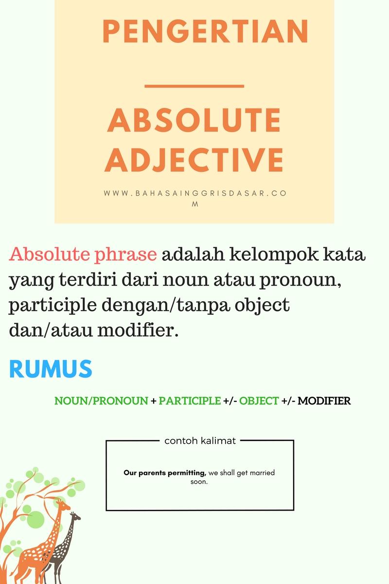 contoh kalimat absolute phrase