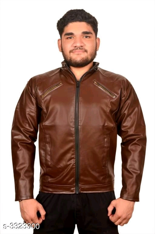 Trendy Men's PU Leather Jacket