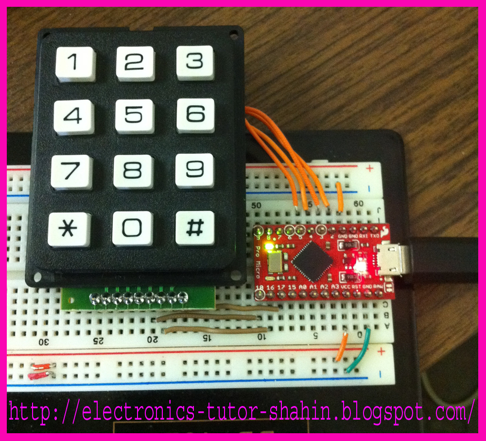 Create Electronics Equipment At Home A Usb Keyboard Mouse To Turn 10segment Led Kit Landing Page Sparkfun Copy And Paste From Below Or Click Here Download It Loaded Up The Keypad Code