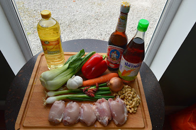 Ingredients for the stir fry