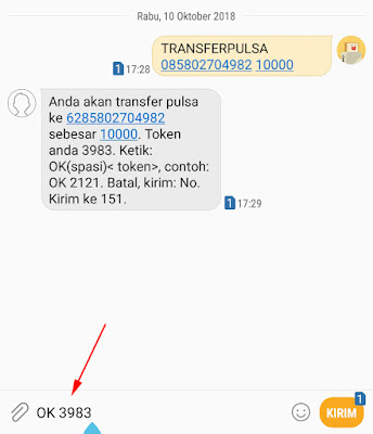 Cara Transfer Pulsa Indosat Ooredoo ke Indosat Ooredoo 16