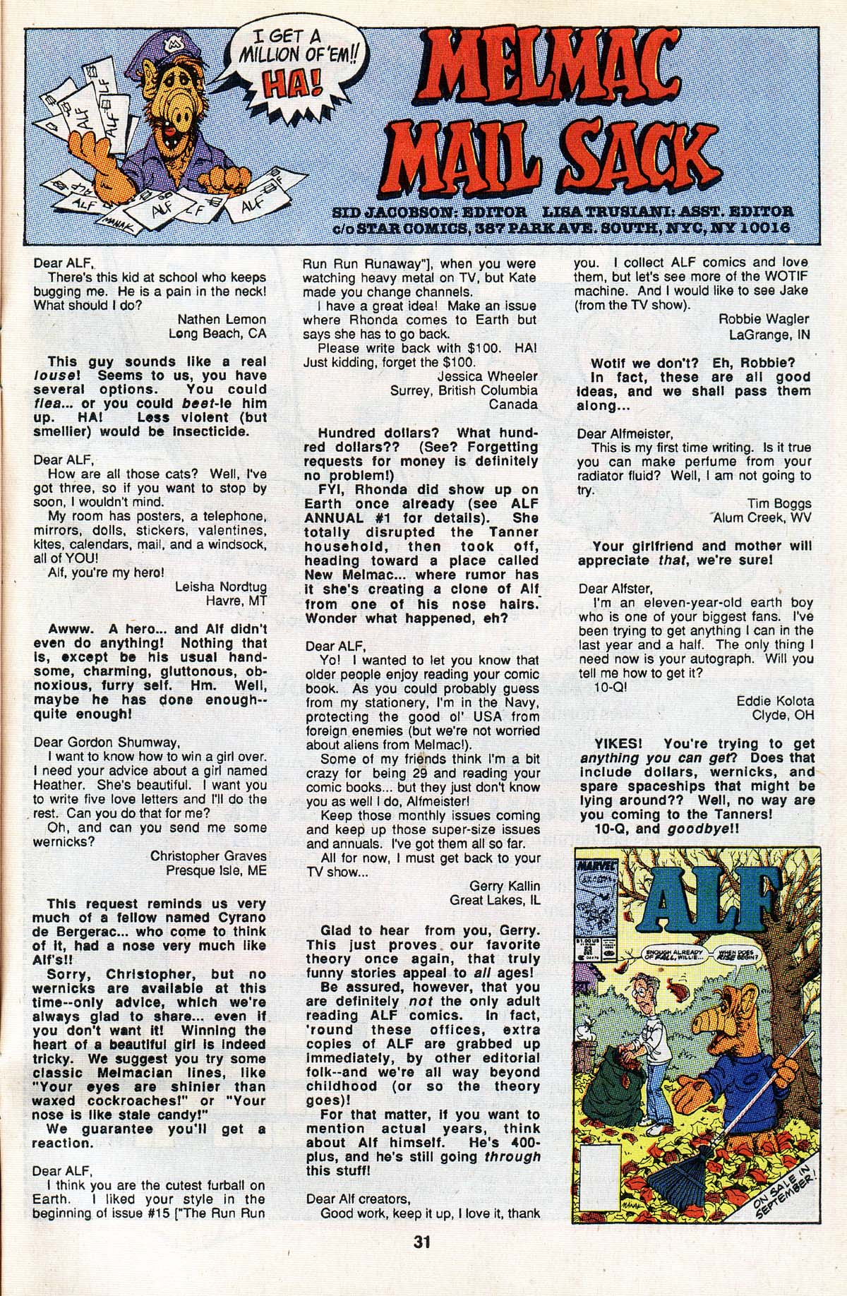 Read online ALF comic -  Issue #22 - 25