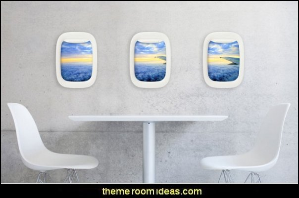 Air Frame  airplane theme bedroom - Aviation themed bedroom ideas - airplane bed - airplane murals - airplane room decor - Airplane rooms - airplane theme beds - airplane decor  pilot chair furniture