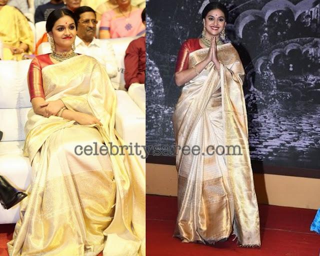 Keerthy Suresh Kanjeevaram Pure Silk Saree