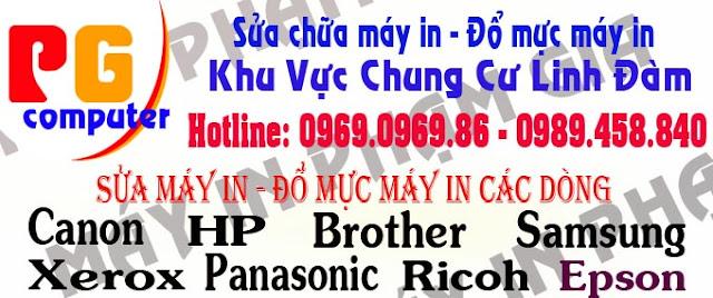 đổ mực máy in, sửa máy in tại linh đàm LH 0969.0969.86