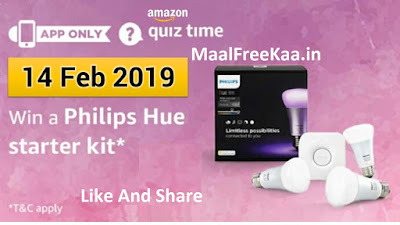 Answer Win Philips Hue Starter Kit