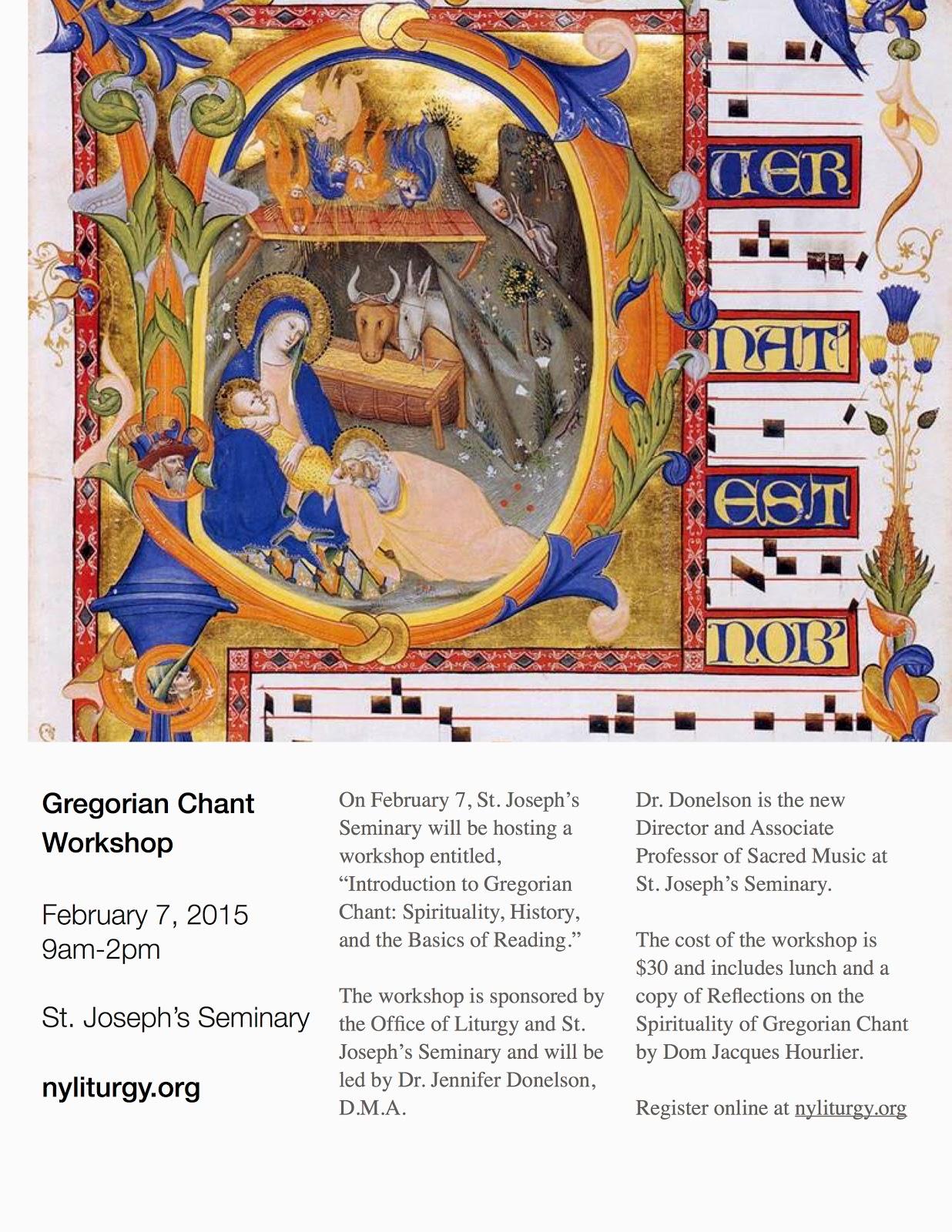 New Liturgical Movement: Gregorian Chant Workshop in New York