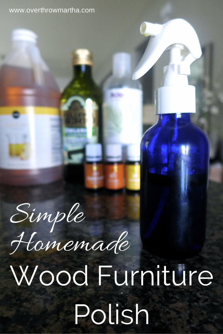 Simple Homemade Wood Furniture Polish Overthrow Martha