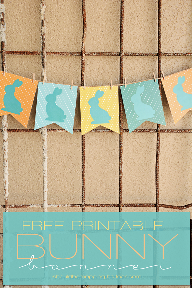 Free Printable Bunny Banner | Print as many pennants as you like for desired length | Instant Download