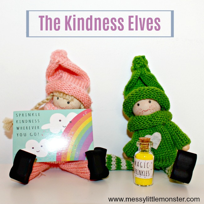 The kindness elves - Christmas advent countdown.  Fun Christmas craft and activity ideas for every day of advent. Perfect ideas for toddlers, preschoolers and older kids.