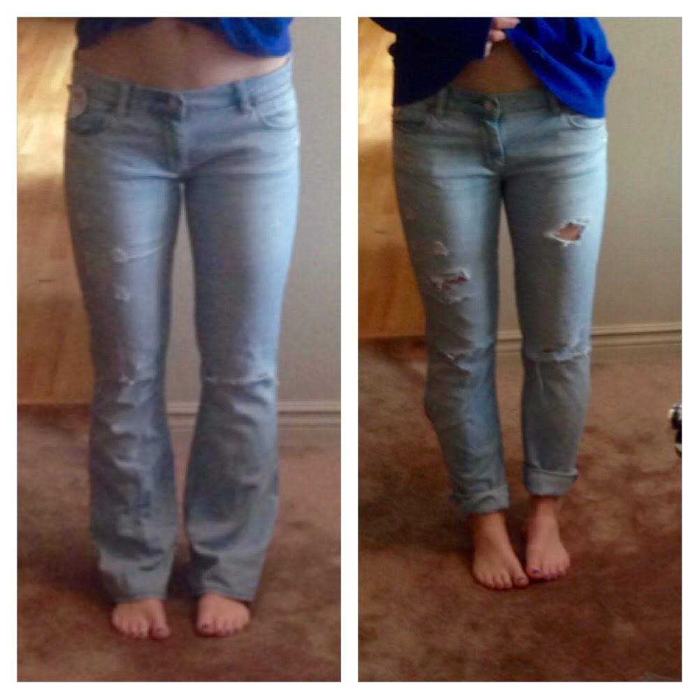 Half Hot Mess Diy Boyfriend Jeans