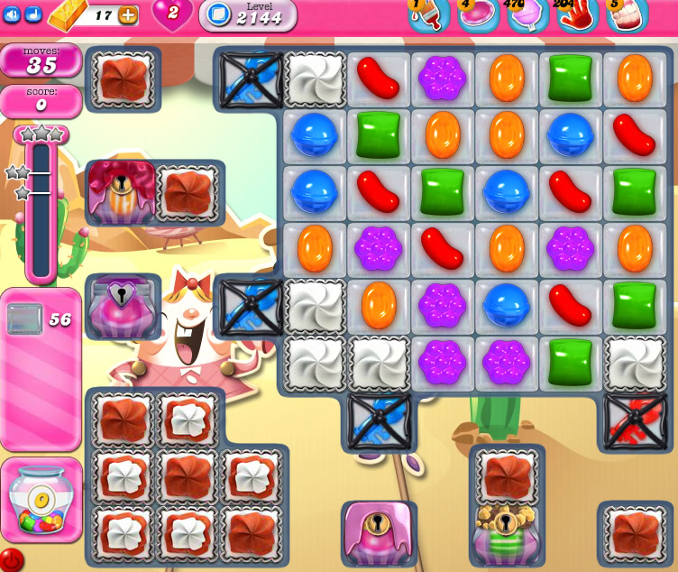 Candy Crush Saga level 2144