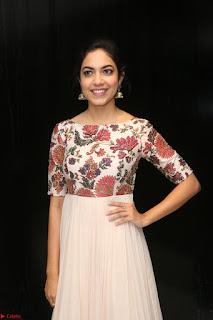 Ritu Varma smiling face Cream Anarkali dress at launch of OPPO New Selfie Camera F3 ~  Exclusive 027.JPG