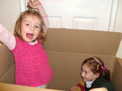Stephs Two Girls in big cardboard box