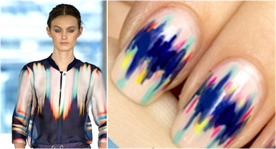 Nail Art Inspired by The Runway Spring 2013 Matthew Williamson