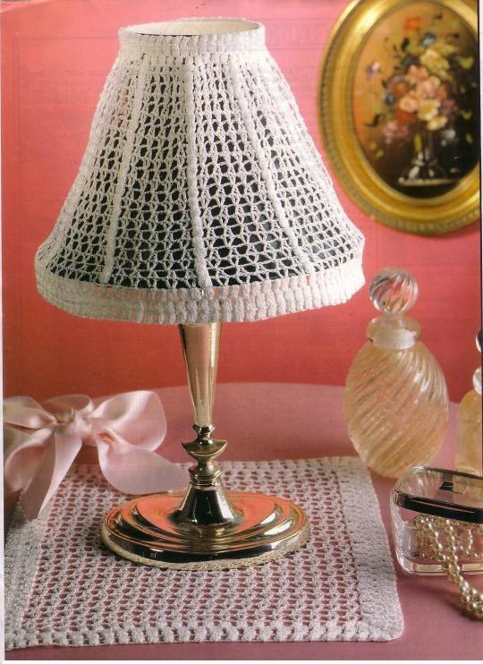 Patron Crochet Lampara Sobremesa