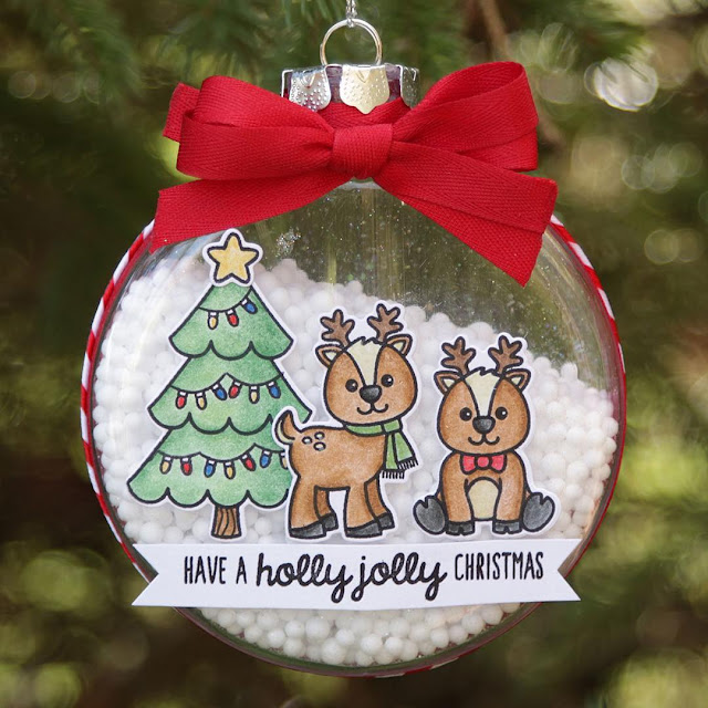 Sunny Studio Stamps: Gleeful Reindeer DIY Christmas Ornament by Juliana Michaels