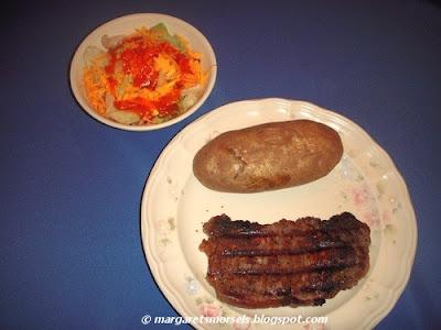 Margaret's Morsels | Grilled Peppered Steaks
