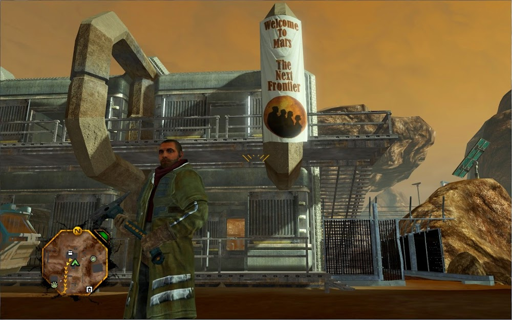 Brutalist architecture in Red Faction Guerrilla video game