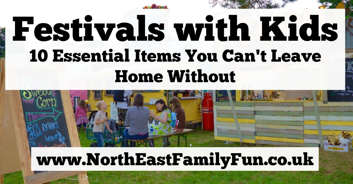 We're heading to Festival on the Wall in Northumberland and the Just So Festival in Cheshire this year. Here are our 10 Essential Items to pack when visiting a festival with kids.
